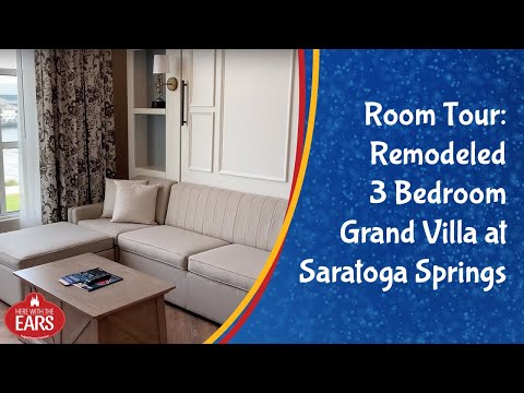 Saratoga Springs - Renovated 3 Bedroom Grand Villa - Room Tour - Refurbished Room