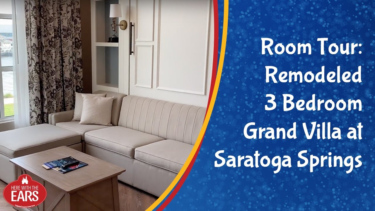 Saratoga Springs Renovated 3 Bedroom Grand Villa Room Tour Refurbished Room Youtube