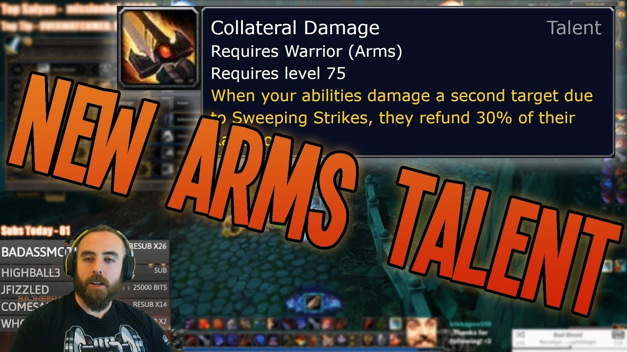 The Collateral Damage Of Testing >> Battle For Azeroth Alpha New Arms Warrior Collateral Damage