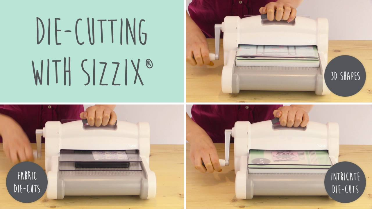 White Gray Big Shot Plus Starter Kit DIY Invitations Scrapbook Home Decor Maker