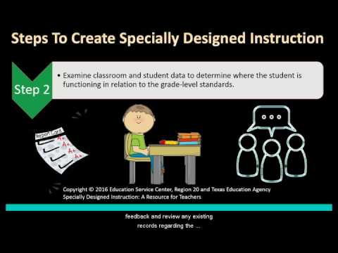 Specially Designed Instruction Youtube