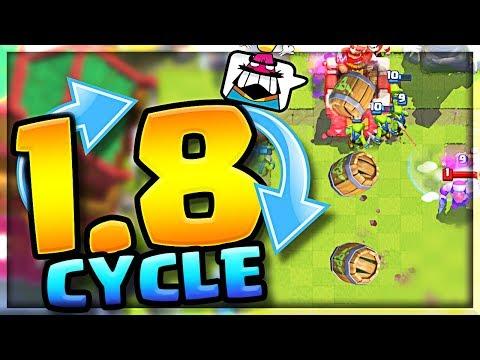 WOW!! 1.8 Cycle DECK - Triple Elixir Challenge Clash Royale!!