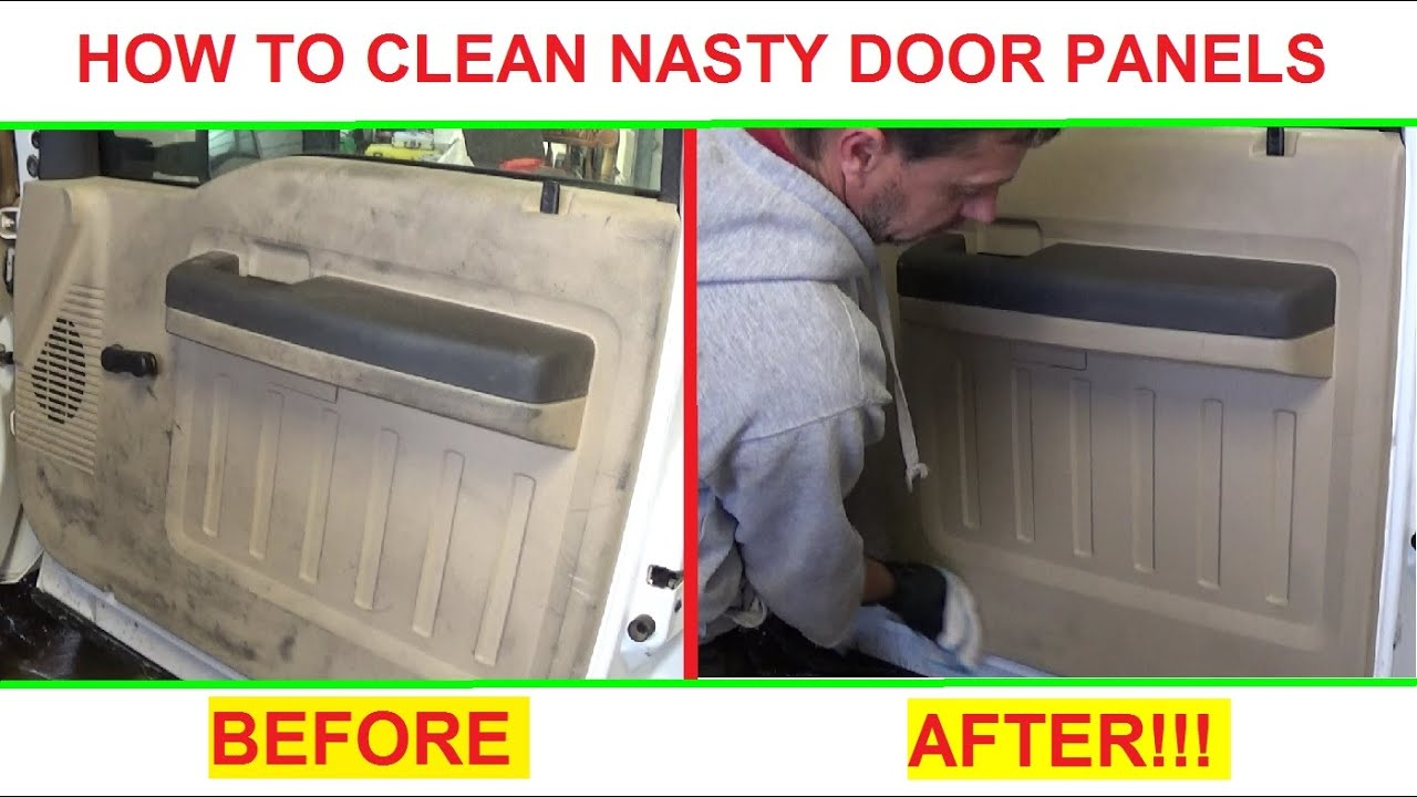 how to clean super dirty door panels and interior plastic great results youtube. Black Bedroom Furniture Sets. Home Design Ideas