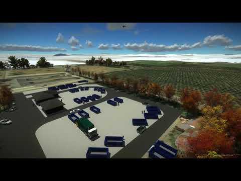 Skælskør Genbrugsplads GEO 3D Over View
