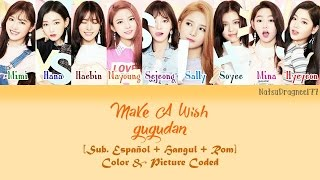 gugudan - Make A Wish (소원 들어주기) [Sub. Español + Hangul + Rom] Color & Picture Coded