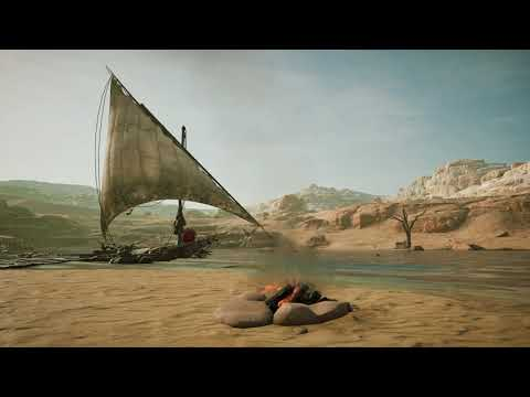 Assassin's Creed Origins│ASMR/Sleep Aid│Oasis Camefire│Ambient Sounds