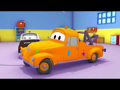 Klein Carrie ist Pikachu - Die Lackierwerkstatt von Tom in Car City 🎨 Cartoons für Kinder