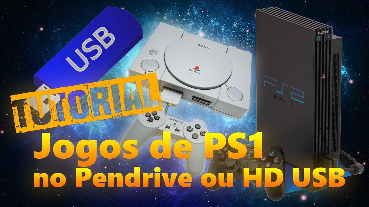 TUTORIAL - Rode jogos de PS1 no PS2 via USB (Pendrive e HD externo) 2018  POPSTARTER no OPL