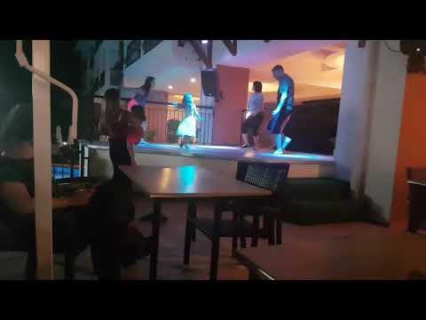 Fun night at Kentia apartments in Side, Turkey