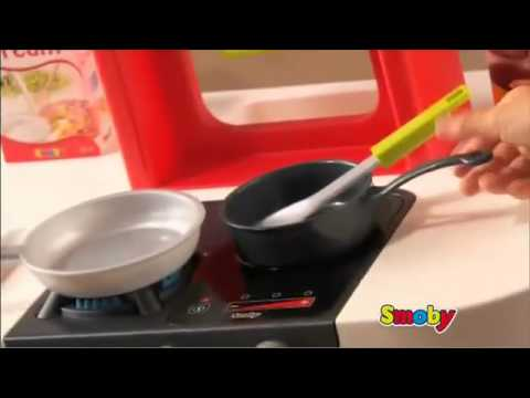 smoby childrens role play cuisine toy loft kitchen youtube. Black Bedroom Furniture Sets. Home Design Ideas
