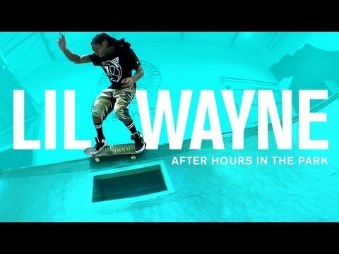 Lil Wayne In The TransWorld Skatepark
