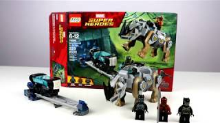 Lego Black Panther Rhino Face Off At The Mine Review!!