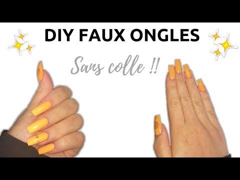 DIY - Faux ongles à la maison facile - SANS COLLE ! - shantiglam