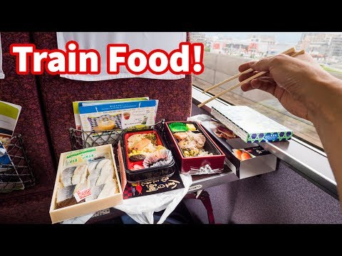 Japanese Train FOOD REVIEW - Sushi and Bentos | Traveling Tokyo to Hakone, Japan!