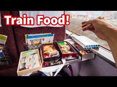 Japanese Train FOOD REVIEW - Sushi And Bentos | Traveling Tokyo To Hakone, Japan!