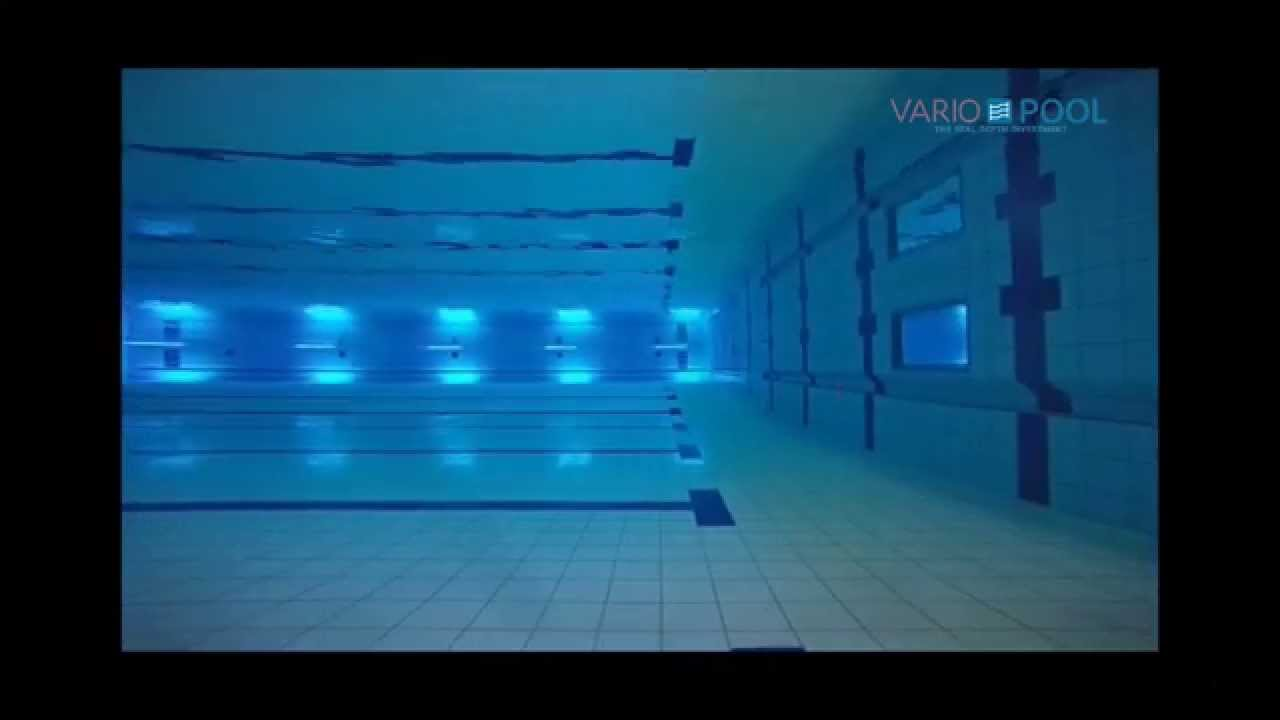 Variopool movable floor swimming pool youtube for Movable floor swimming pool price