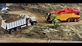 Stuck RC Truck rescue and other RC Truck scenes