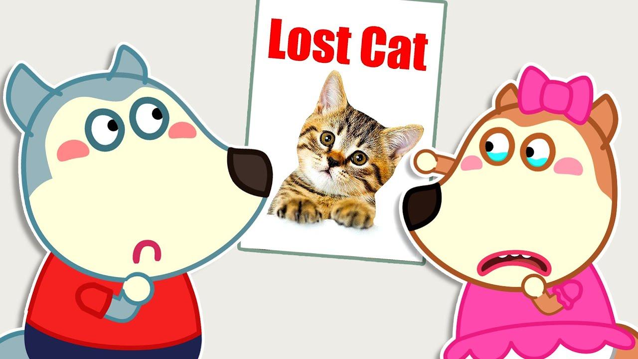 लिटिल वुल्फ और लुसी खोई हुई बिल्ली को ढूंढते हैं | Wolfoo Hindi