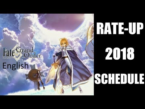 Fate/Grand Order English 2018 Summoning Schedule!