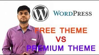 wordpress tutorial  free theme vs premium theme in hindi