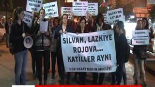 HATAY'DA SİLVAN OLAYLARI PROTESTO EDİLDİ