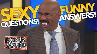 "STEVE HARVEY asks... ""Whats the SEXIEST..."" Funny Family Feud Answers & Contestants! Bonus Round"