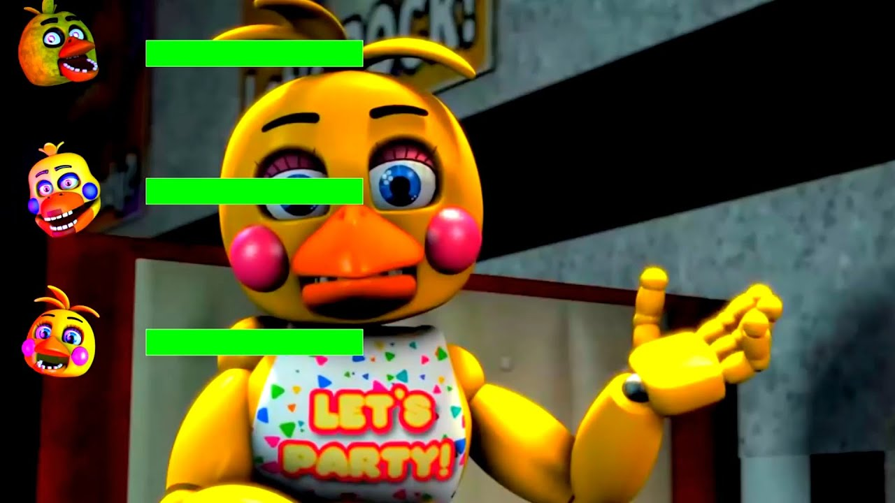 Every FNaF CHICA in a Nutshell WITH Healthbars