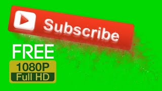 Channel Subscribe Button Green Screen | Book Marketing