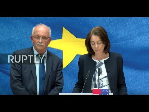 LIVE: Germany's Social Democratic Party comments on EU elections results