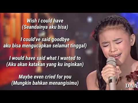 Lirik Terjemahan | ANNETH - I'LL NEVER LOVE AGAIN (Lady Gaga) - INDONESIAN IDOL JUNIOR 2018