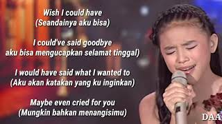 Lirik Terjemahan | ANNETH - I'LL NEVER LOVE AGAIN (Lady Gaga) - INDONESIAN IDOL JUNIOR 2018 Video