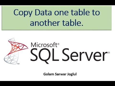SQL Server - Insert or copy data a table to another table