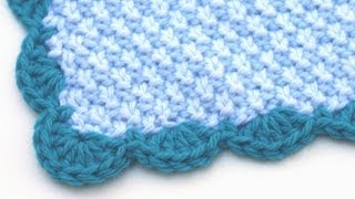 Repeat youtube video Crochet for Knitters - Scalloped Edge