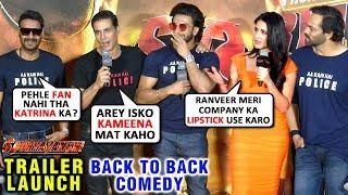 Sooryavanshi Movie Trailer Launch FULL COMEDY With Katrina, Akshay, Ranveer Ajay Karan Rohit | UNCUT