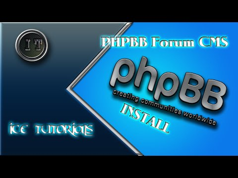 CMS Forum Software phpbb #01 Install by Ice-Tutorials [HD] [GER]