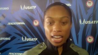 Allyson Felix talks after running world-leading 49.68 at 2016 US Olympic Trials