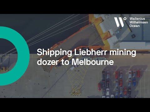 WW Ocean ship Liebherr mining dozer to Melbourne