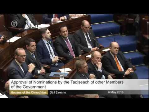 Taoiseach Enda Kenny Announces New Government 2016