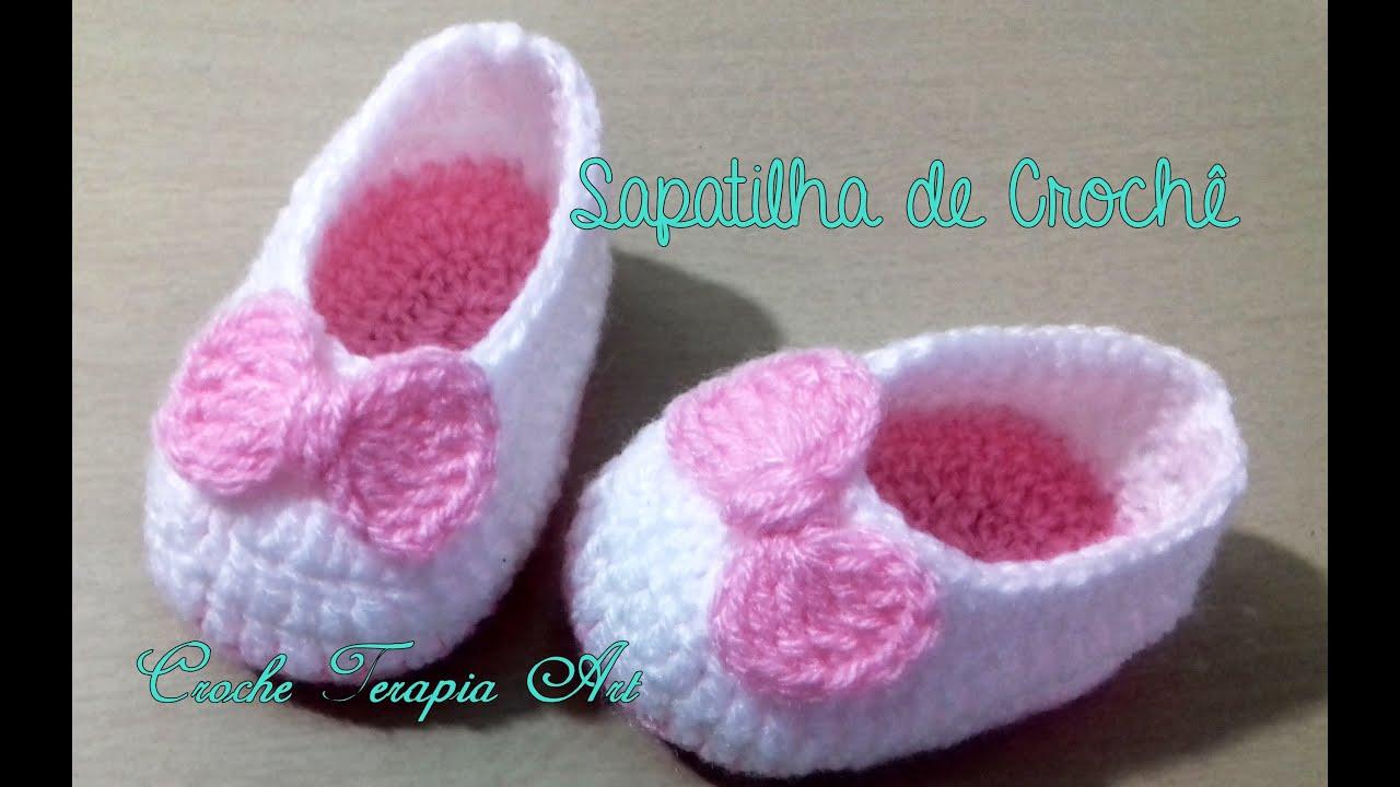 922e97b6bf Sapatilha de crochê Fácil  crochet - YouTube
