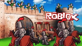 Roblox | MEDIEVAL CASTLE SIEGE - Roblox Valor! (Knights, Horses, Catapults)
