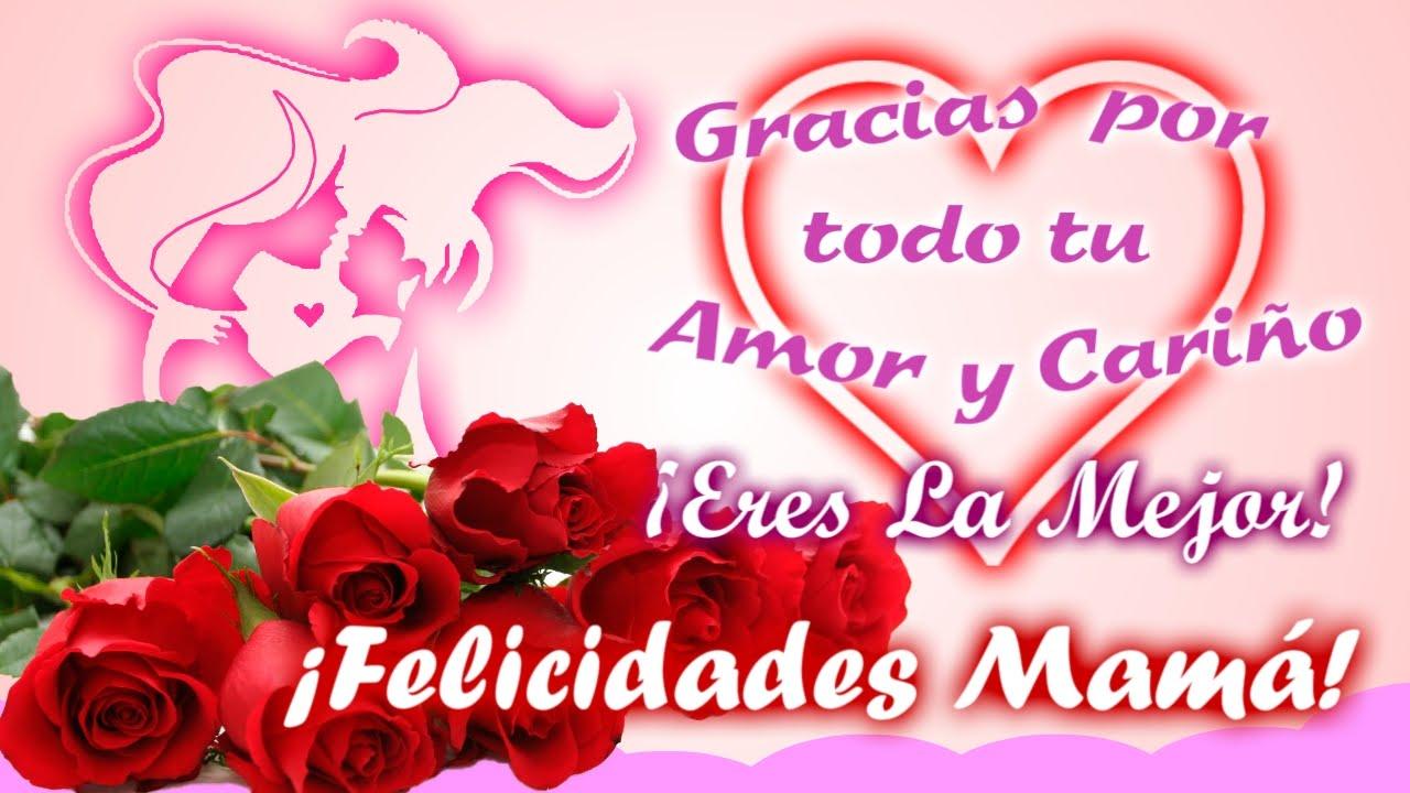 Felicidades Mamá Feliz Día De Las Madres Animada Tarjeta
