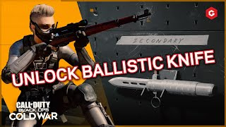 HOW TO UNLOCK THE BALLISTIC KNIFE FAST (COLD WAR, WARZONE AND ZOMBIES)