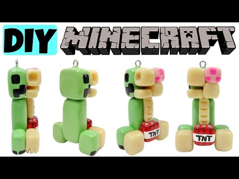 Minecraft DIY Mini Creeper Anatomy!!! Polymer Clay Charm