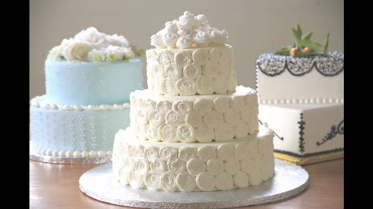Simple Wedding cake decorating ideas - YouTube