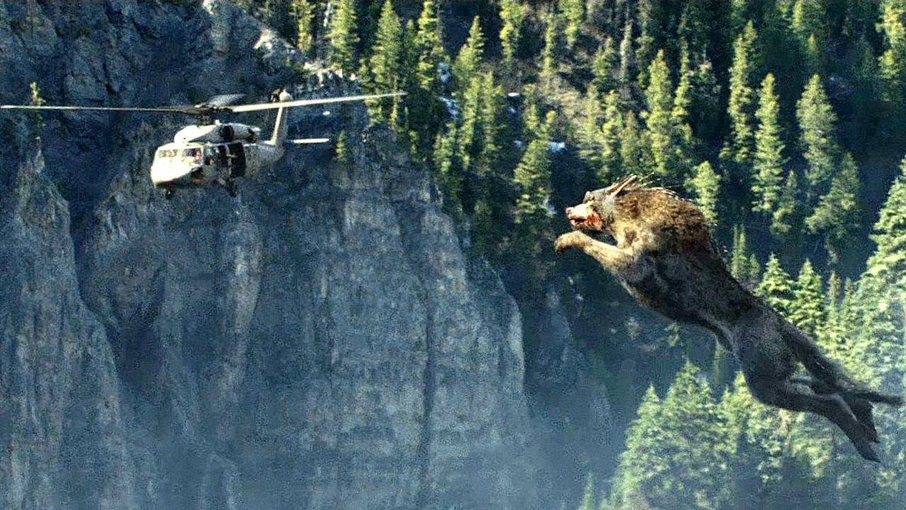 Download Giant Wolf Attack Scene - Wolf vs Helicopter - Rampage (2018) Movie Clip HD