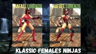 All KLASSIC FEMALES NINJAS Costume Skin MOD MK9 FROST SKARLET MILEENA JADE KITANA & more