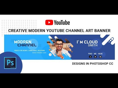 Create Modern Youtube Channel Art Banner In Photoshop Cc