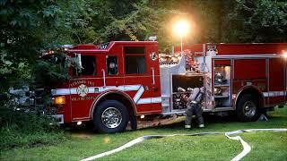 11 fire departments water school's new football field
