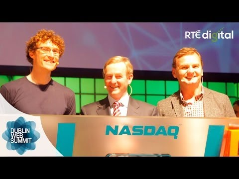 Trading on the NASDAQ stock exchange opened from Dublin