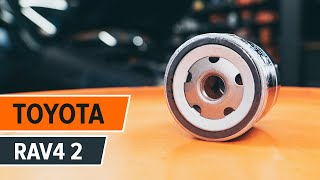 Як поміняти моторне масло і масляний фільтр TOYOTA RAV4 [ІНСТРУКЦІЯ]